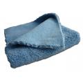 Микрофибровая двухворсовая салфетка голубая 40*40
